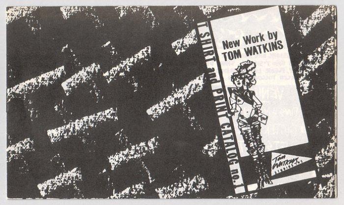 TOM WATKINS t-shirt & print catalog 1984 crayon art