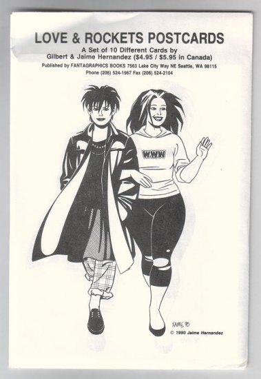 Love & Rockets POSTCARD SET 1990 unused Hernandez Bros.