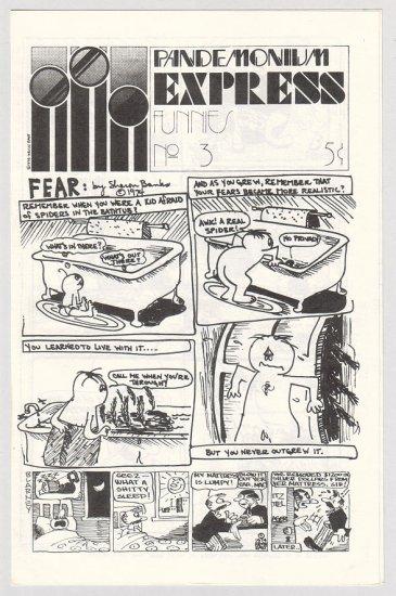 PANDEMONIUM EXPRESS FUNNIES #3 mini-comic SHARON BANKS 1974 UG comix