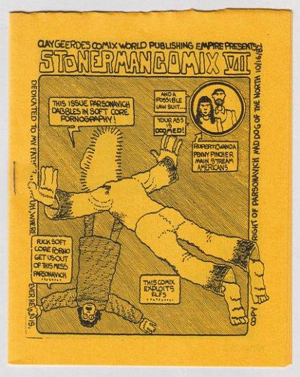 STONER MAN COMIX #7 mini-comic PARSONAVICH 1982