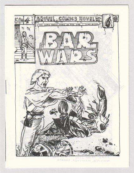 BAR WARS #4 Canadian newave comix JACK D. ZASTRE 1981