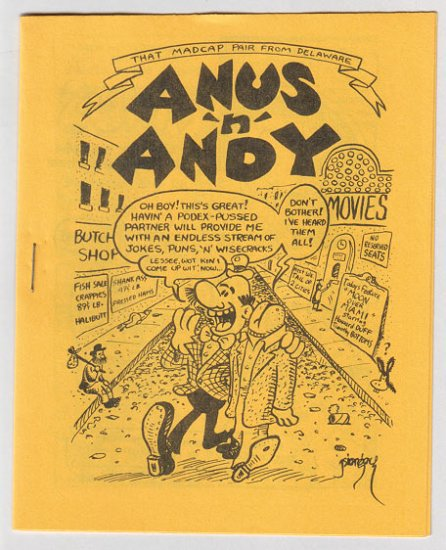 ANUS 'N' ANDY mini-comic JIM SIERGEY 1981