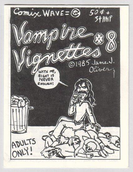 VAMPIRE VIGNETTES #8 mini-comic JANE J. OLIVER Brad Foster 1985
