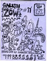 GARISH ZOW mini-comic SAM HENDERSON 1988 *SALE 40% off