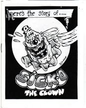 SICKO THE CLOWN mini-comic R.K. SLOANE 1988