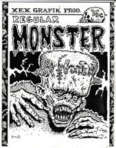 REGULAR MONSTER mini-comic XNO 1983 signed