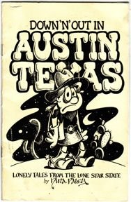 DOWN AND OUT IN AUSTIN TEXAS mini-comic NINA PALEY 1991 *SALE 40% off