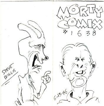MORTY COMIX #1638 original art STEVE WILLIS 1986
