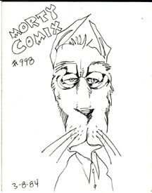 MORTY COMIX #998 original art STEVE WILLIS 1984