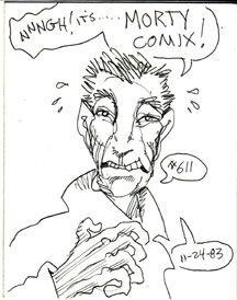 MORTY COMIX #611 original art STEVE WILLIS 1983