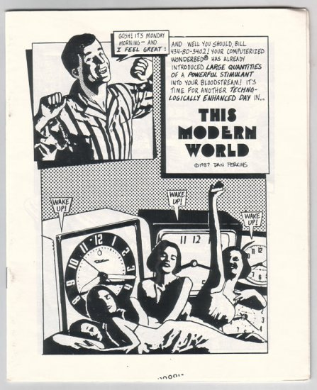 THIS MODERN WORLD mini-comic TOM TOMORROW 1987 *SALE 40% off