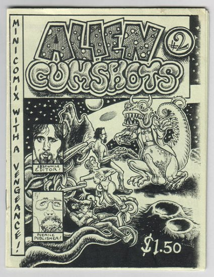 ALIEN C*MSHOTS #2 mini-comic R.L. CRABBE George Parsons BRAD FOSTER 1981 *SALE 40% off