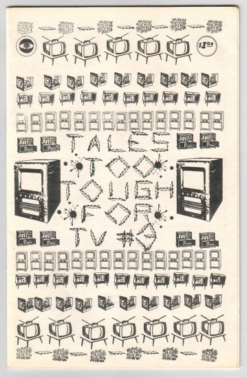TALES TOO TOUGH FOR TV #3 mini WAYNE GIBSON Valentino BRAD FOSTER 1980 *SALE 40% off
