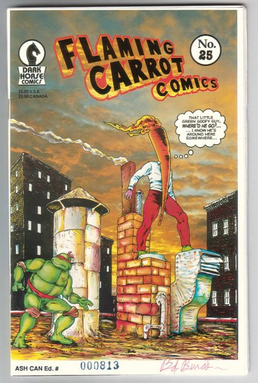 FLAMING CARROT ASHCAN #25 comix BOB BURDEN 1990 *SALE 40% off