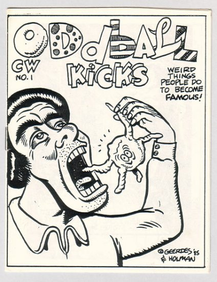 ODDBALL KICKS #1 mini-comic PAR HOLMAN Brad Foster DAVID MILLER 1986