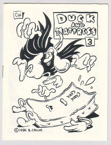 DUCK AND MATTRESS #3 mini-comic BRAD CASLOR 1986