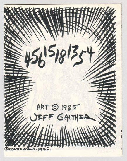 45615181354 mini-comic JEFF GAITHER 1985 comix