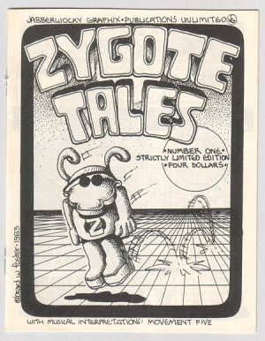 ZYGOTE TALES mini-comic BRAD FOSTER 1983 signed &amp; numbered
