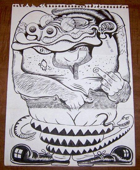 ORIGINAL ART Seattle Star #16 cover PETER BAGGE Michael Dougan MARK ZINGARELLI 1988 signed