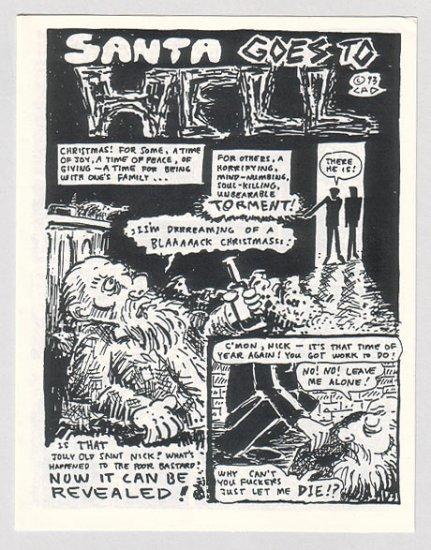 SANTA GOES TO HELL minicomic CLARK DISSMEYER 1993