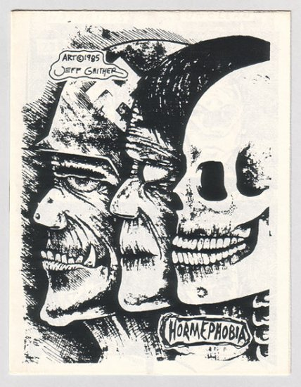 HORMEPHOBIA mini-comic JEFF GAITHER 1985 comix