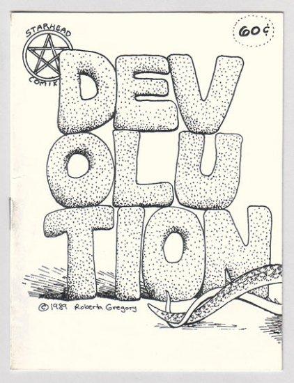 DEVOLUTION mini-comic ROBERTA GREGORY 1989 comix