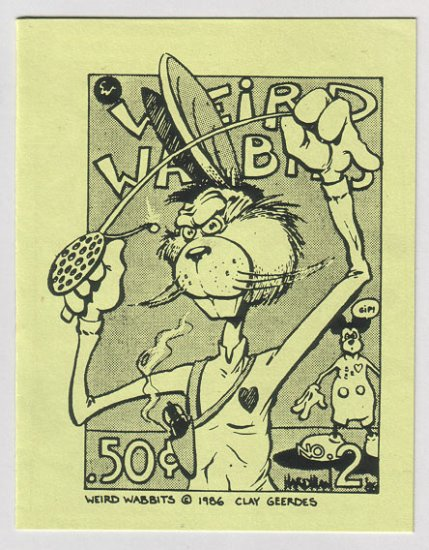 WEIRD WABBITS #2 minicomic GARRY HARDMAN David Tosh 1980s