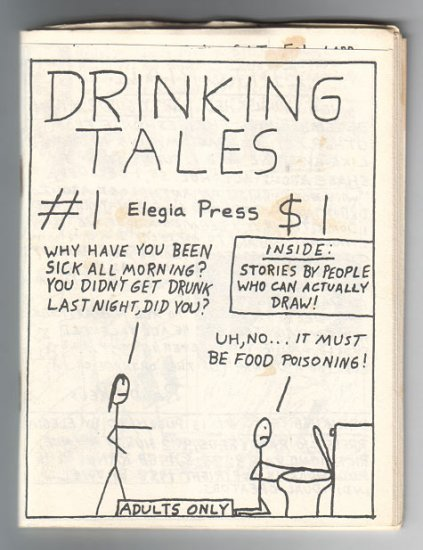 DRINKING TALES #1 mini-comic EDWARD BOLMAN Joe Hutchinson WAYNO Colin Upton 1988