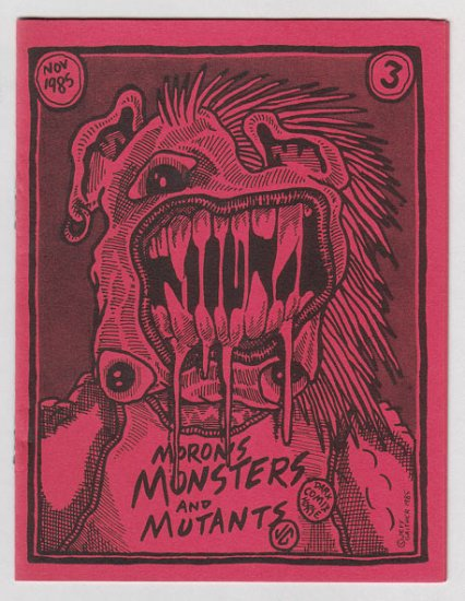 MONSTERS AND MUTANTS #3 mini-comix JEFF GAITHER 1985