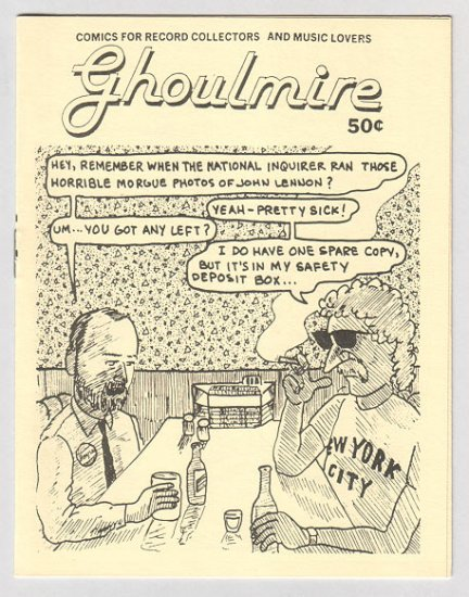 GHOULMIRE mini-comic WAYNO 1985 record collectors Goldmine spoof