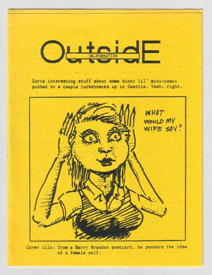 OUTSIDE IN index mini-comic JACQUES BOIVIN 1988