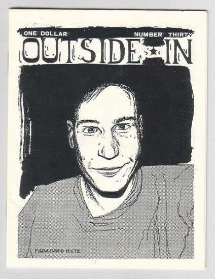 OUTSIDE IN #30 minicomic SYLVIE RANCOURT Jim Conatser 1989