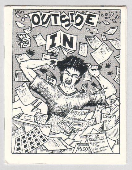 OUTSIDE IN #27 minicomic EDWARD BOLMAN Chuck Bunker 1988