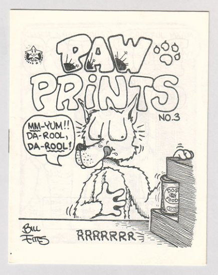PAW PRINTS #3 mini-comic BILL FITTS 1987