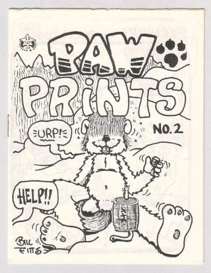 PAW PRINTS #2 mini-comic BILL FITTS 1985