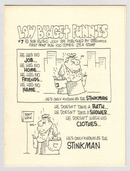 LOW BUDGET FUNNIES #7 mini-comic BOB VOJTKO 1985