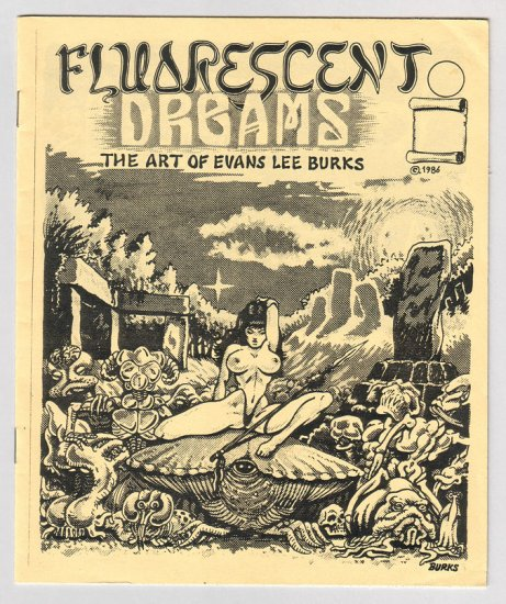 FLUORESCENT DREAMS mini-comix LEE BURKS 1986 pin-ups