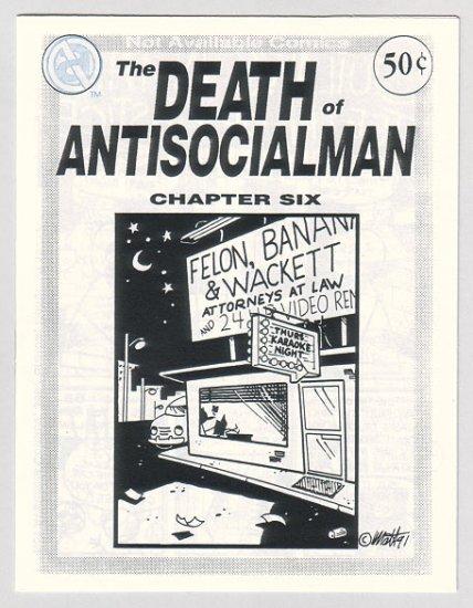 DEATH OF ANTISOCIALMAN #6 mini-comic MATT FEAZELL