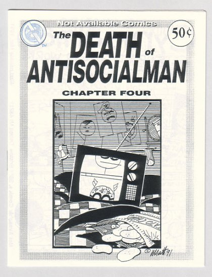 DEATH OF ANTISOCIALMAN #4 mini-comic MATT FEAZELL