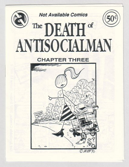DEATH OF ANTISOCIALMAN #3 mini-comic MATT FEAZELL