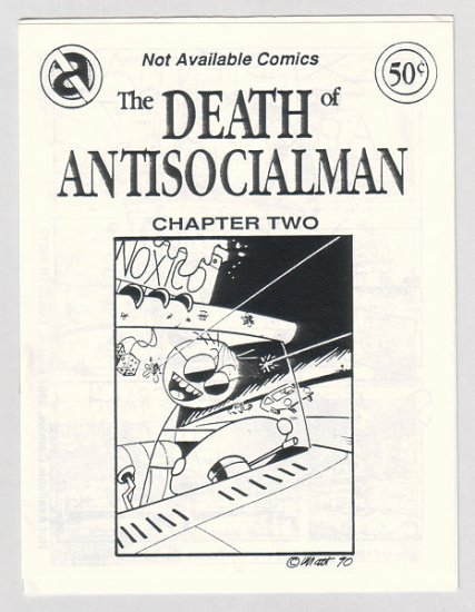 DEATH OF ANTISOCIALMAN #2 mini-comic MATT FEAZELL