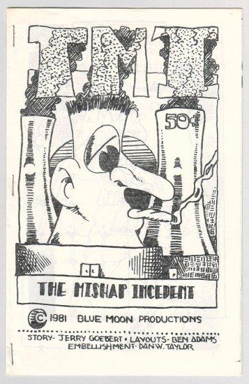 TMI mini-comic DAN W. TAYLOR Ben Adams 1981