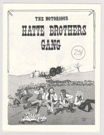 NOTORIOUS HATTE BROTHERS GANG Canadian mini-comix BASIL HATTE 1980 1st