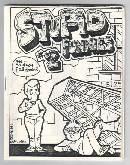 STUPID FUNNIES #2 mini-comic EDWARD BOLMAN Sam Henderson TIM CORRIGAN 1987