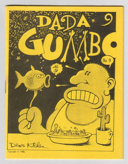 DADA GUMBO #9 mini-comix DENIS KITCHEN Chester Brown RICHARD SALA Michael Roden 1987