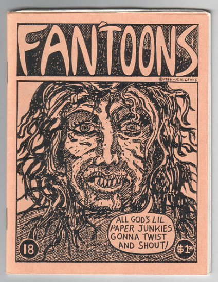 FAN'TOONS #18 mini-comic JEFF GAITHER Brad Foster STEVE WILLIS jam comix 1987