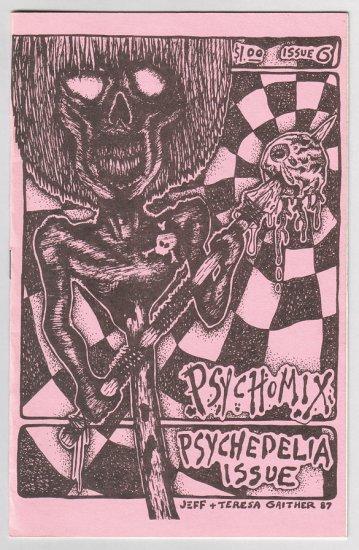PSYCHOMIX #6 mini-comix R.K. SLOANE Jeff Gaither ANDY NUKES 1987