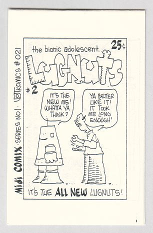 LUGNUTS #2 minicomic BOB VOJTKO 1985