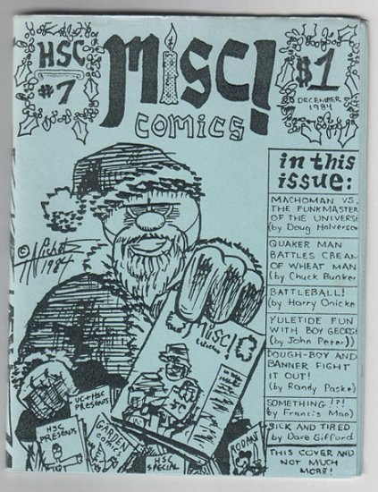 MISC #7 mini-comic CHUCK BUNKER Doug Holverson 1984 HSC