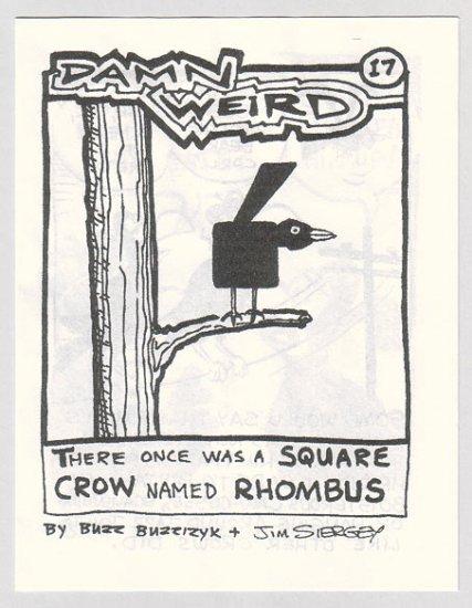 DAMN WEIRD #17 minicomic BUZZ BUZZIZYK Jim Siergey 1990s